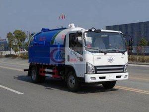 Classical FAW cleaning sewage suction truck