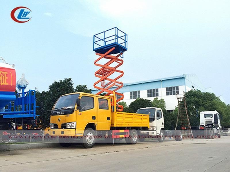 Camion piattaforma elevatrice a forbice Dongfeng piattaforma di lavoro