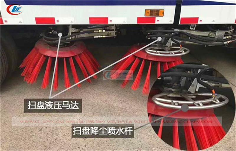 Dongfeng 5cbm road vacuum sweeper