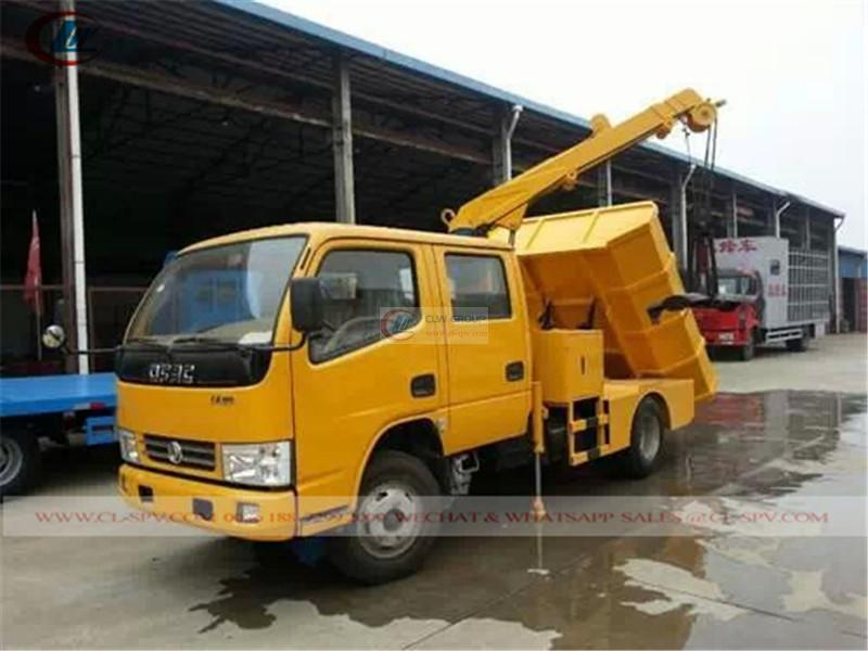 Dongfeng Ruiling double-row grab dredging truck