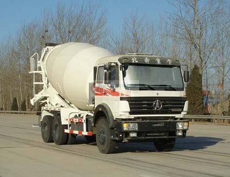 8-12 cbm beiben concrete mixer truck