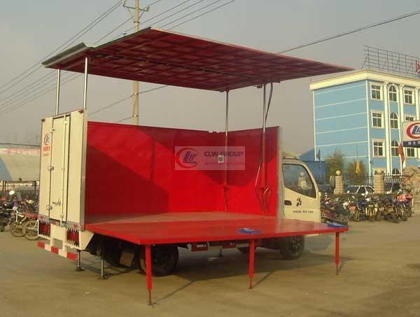 福田全自动单面液压  Stage Truck 展开图
