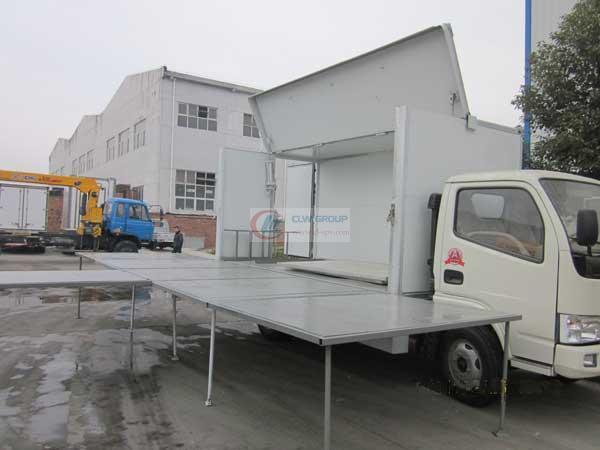 东风单面流动  Stage Truck 展开图三侧面