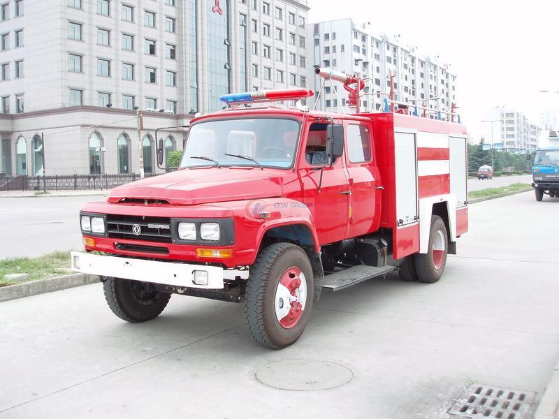 Dongfeng 140 water tank foam fire truck (3.5) tons