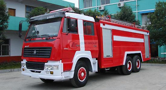 Steyr double bridge water tank foam fire truck (15 tons)