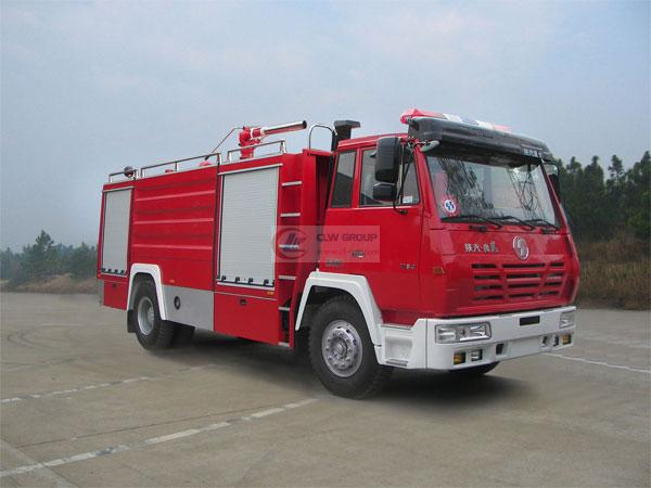 Shaanxi Automobile Single Bridge Water Tank Fire Truck (6 tons)
