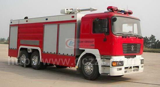 Shaanxi Auto Rear Double Bridge Water Tank Fire Truck