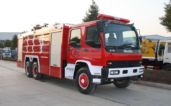 Isuzu  6×4 foam fire truck (11 tons)