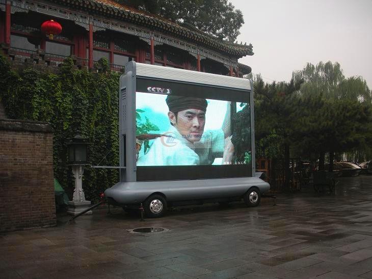 露天转播节目的牵引式LED广告  LED Advertising truck 图片
