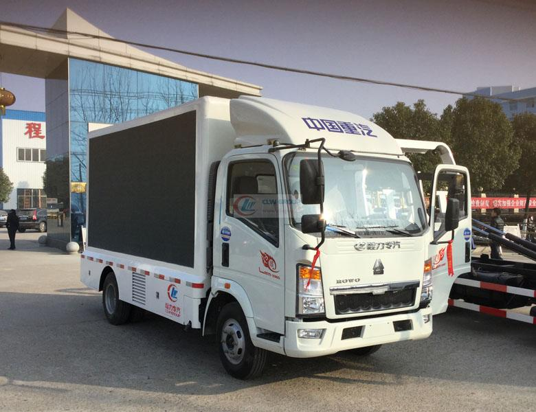 Sinotruk Howo LED advertising vehicle