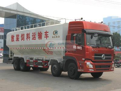 东风天龙32立方散装饲料运输车