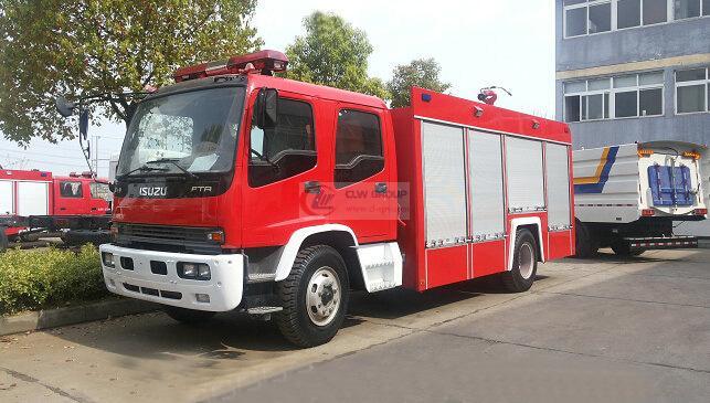 Isuzu6吨水罐消防车图片