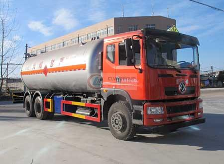 Dongfeng  6×4 -wheel liquefied gas transport vehicle (25.3 cubic meters)