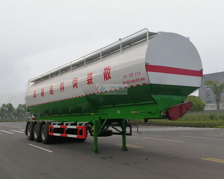 50 cubic (30 tons) bulk feed transport semi-trailer