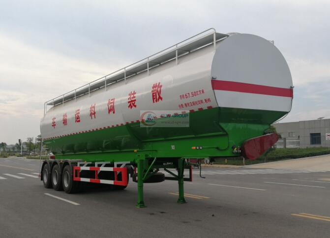 60 cubic meters (35 tons) bulk feed transport semi-trailer
