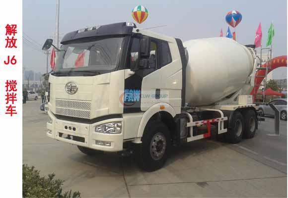 Faw 12  cbm concrete mixer truck