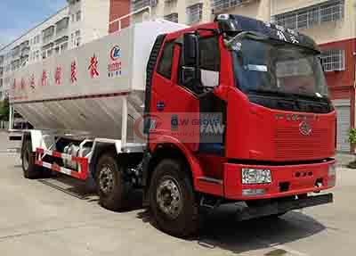 Jiefang small three-axis 30  cbm feed truck