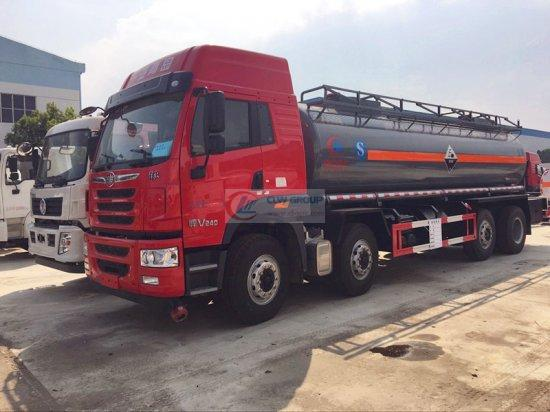 Eight ammonia water chemical liquid transport vehicles (18 tons 20 cubic meters), chemical transport vehicles before and after the liberation