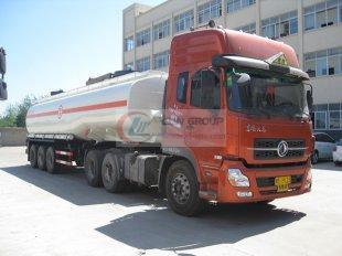Dongfeng Tianlong 42 cbm sulfuric acid chemical liquid truck, chemical truck