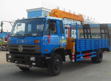 Dongfeng 153 truck-mounted sling flatbed transport truck