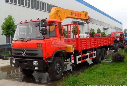 Dongfeng 6×4 truck mounted crane