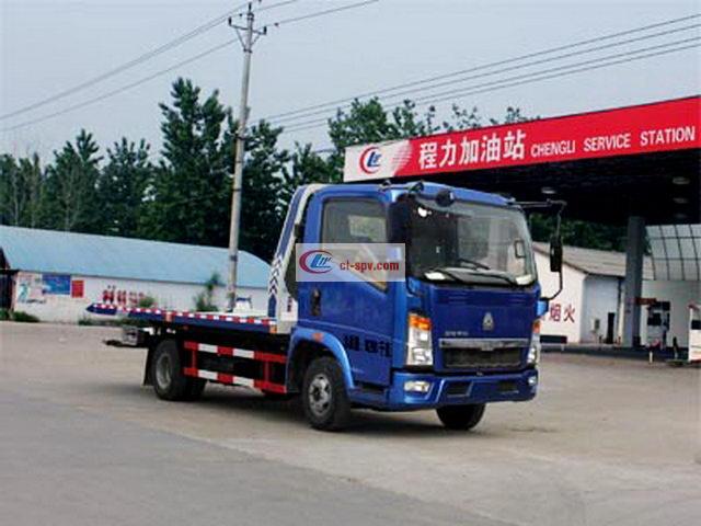 HOWO Light Truck Pritschenwagen mit einem Schlepptau zwei