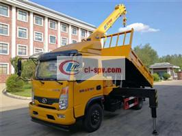 Shifeng small 4-ton truck-mounted sling dump