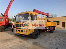 Dongfeng Special Commercial 8 tons of stone coal truck-mounted sling climbing ladder