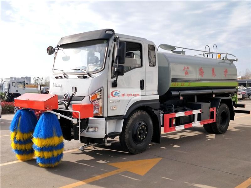 Camión de limpieza de barandillas de Dongfeng Tianjin con función de limpieza de carreteras de alta presión