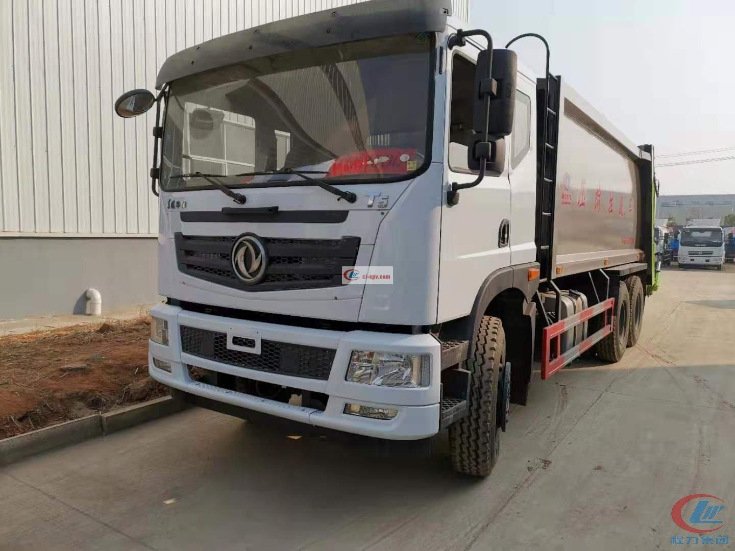 Dongfeng T5 Cummins 245 hp  Euro  Five Compressed Garbage Truck
