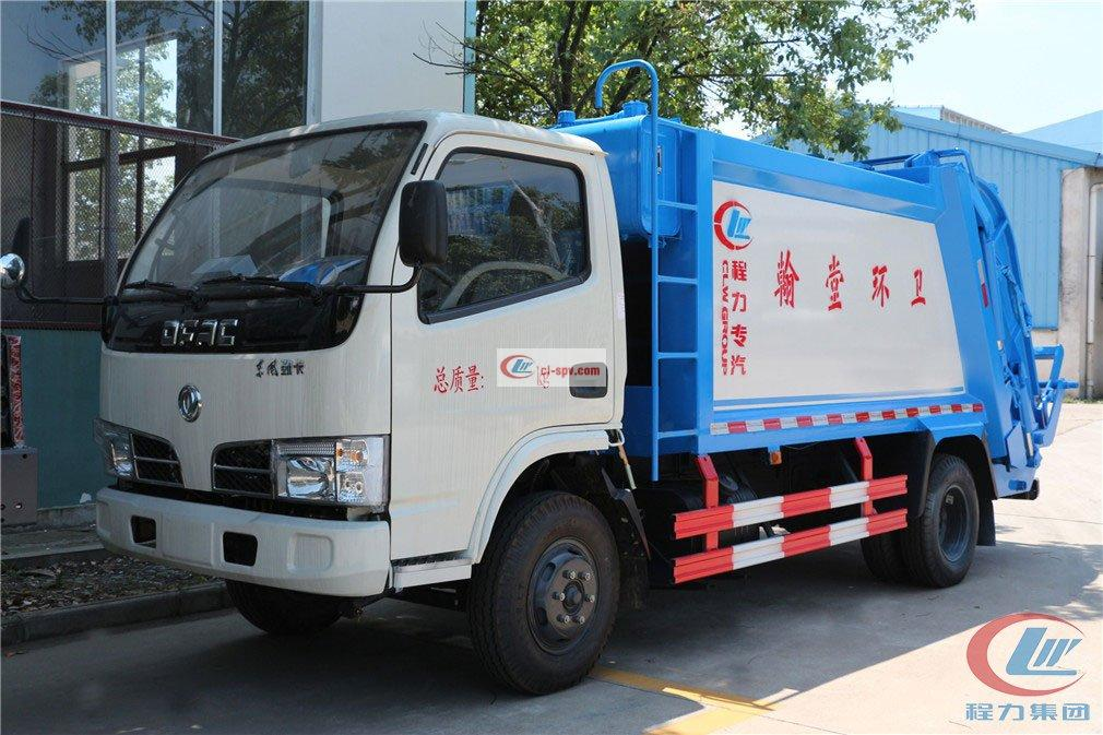 程力东风多利卡5方 compressed garbage truck