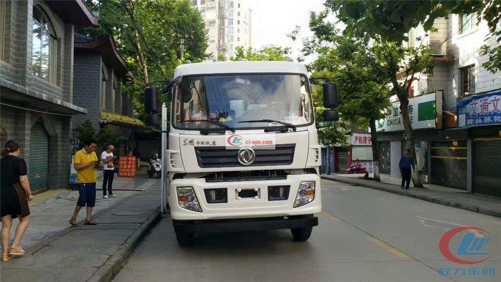 Caminhão de lixo especial de compressão inferior da Dongfeng
