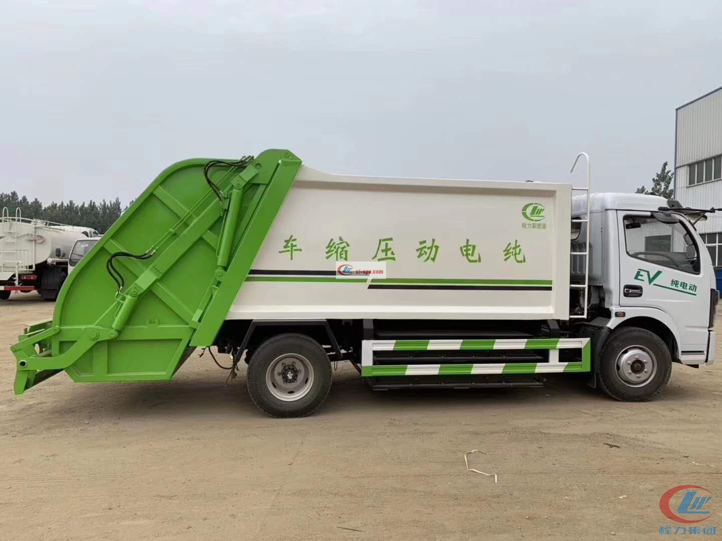 Pure electric 8 cbm compressed garbage truck