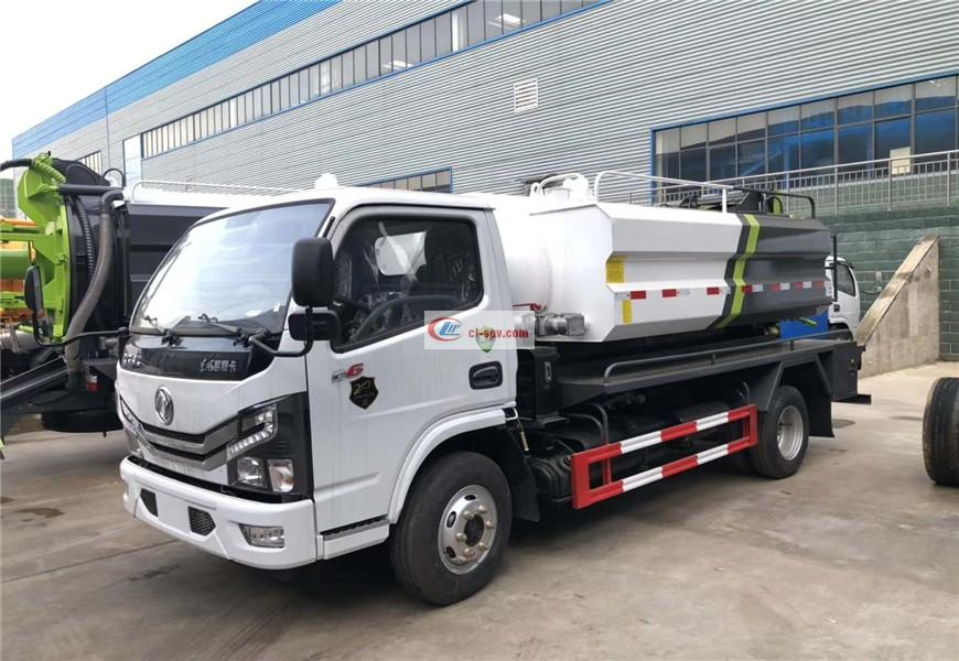 Dongfeng Xiaodolika cleaning and suction sewage truck National VI