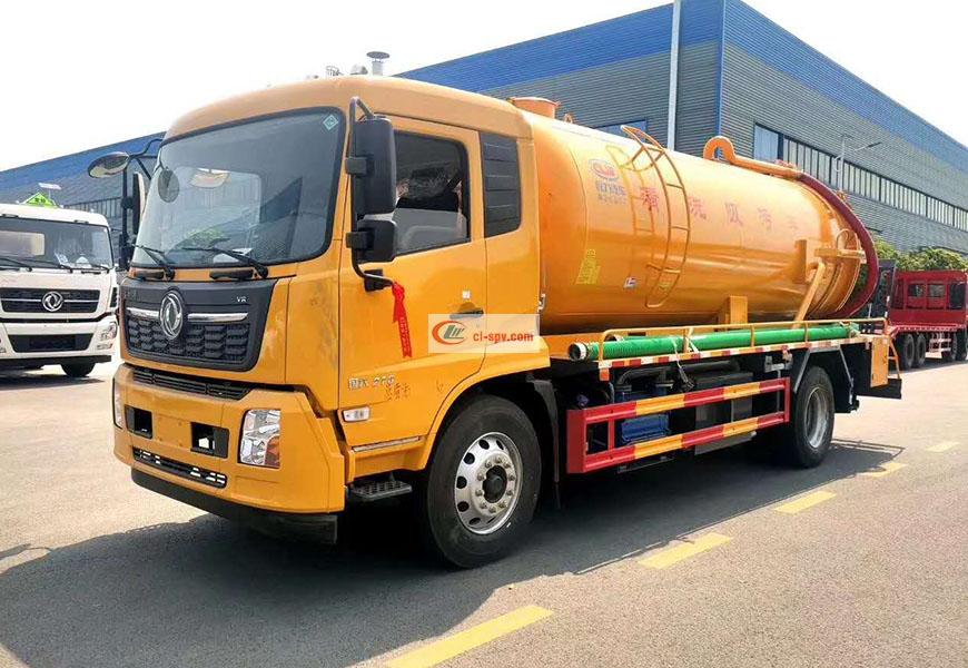 Dongfeng Tianjin 15 party cleaning and suction sewage truck National VI