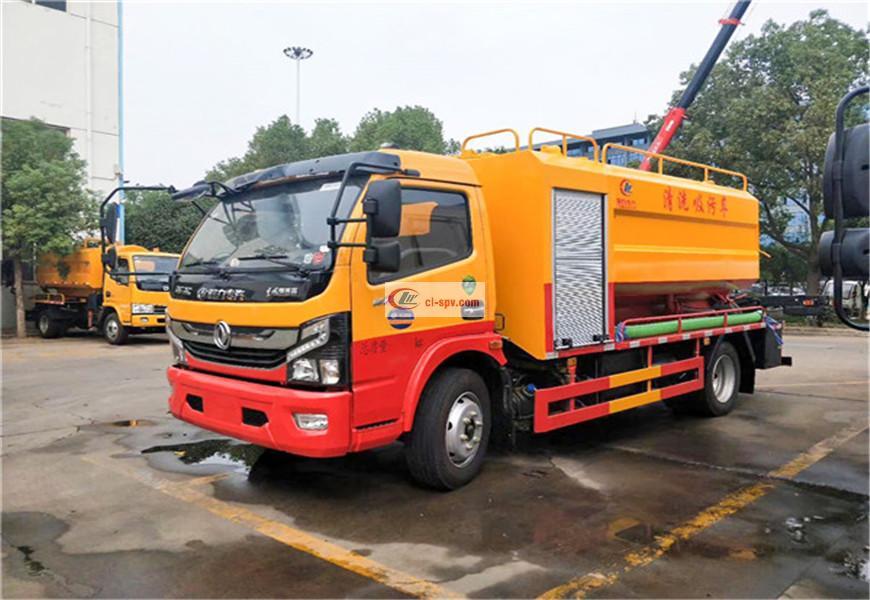 Camión de alcantarillado limpio y de succión Dongfeng Capt National VI