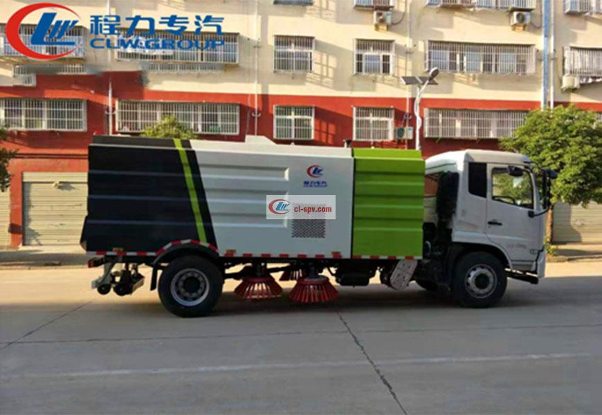 国六东风天锦12方扫路车图片