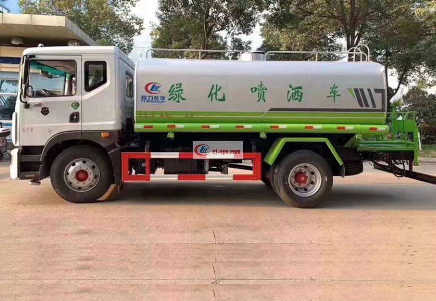 国六东风D9(12方)洒水车侧方展示图