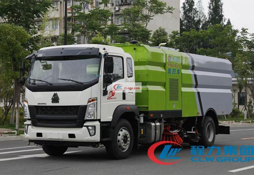 SINOTRUK HOWO 16-square cleaning and sweeping vehicle National VI