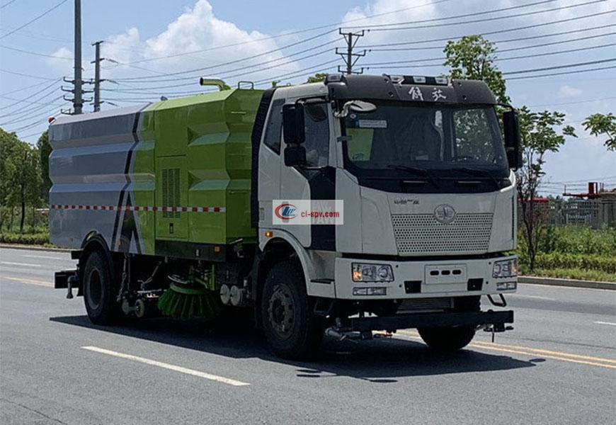 一汽解放J6道路多功能洗扫车(16吨)图片