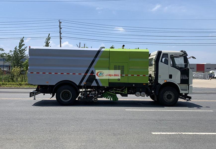 一汽解放J6洗扫车16方图片