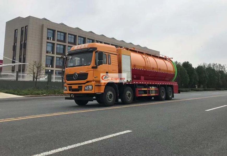 Shaanxi Automobile Delong primeros cuatro, Últimos ocho camiones de aspiración de aguas residuales de limpieza National Six