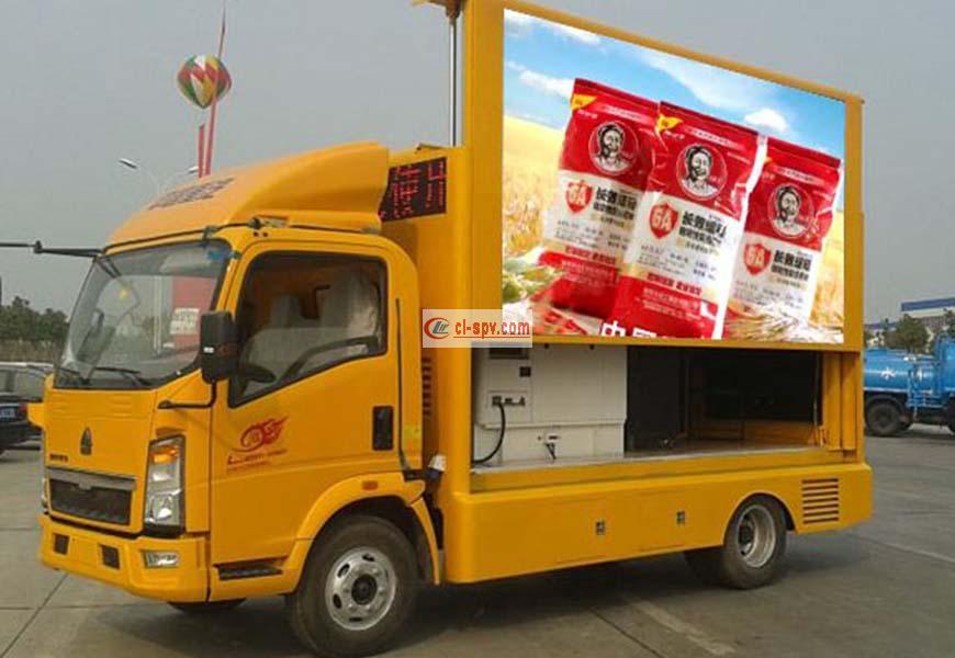 Sinotruk led advertising vehicle