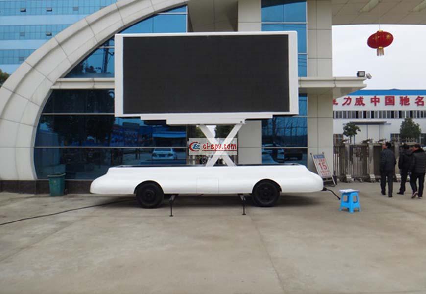 Towing led advertising vehicle