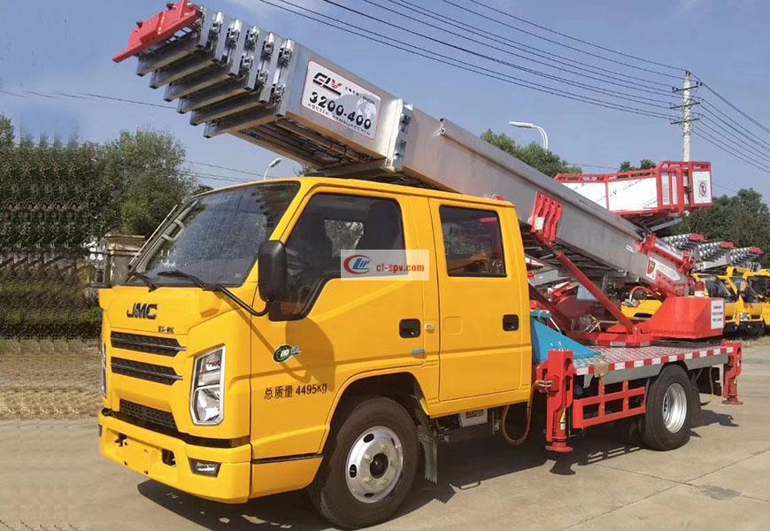 Blue brand JMC Shunda 32m ladder truck National Six