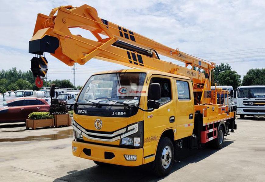 国六东风凯普特双排座14米16米高空作业车