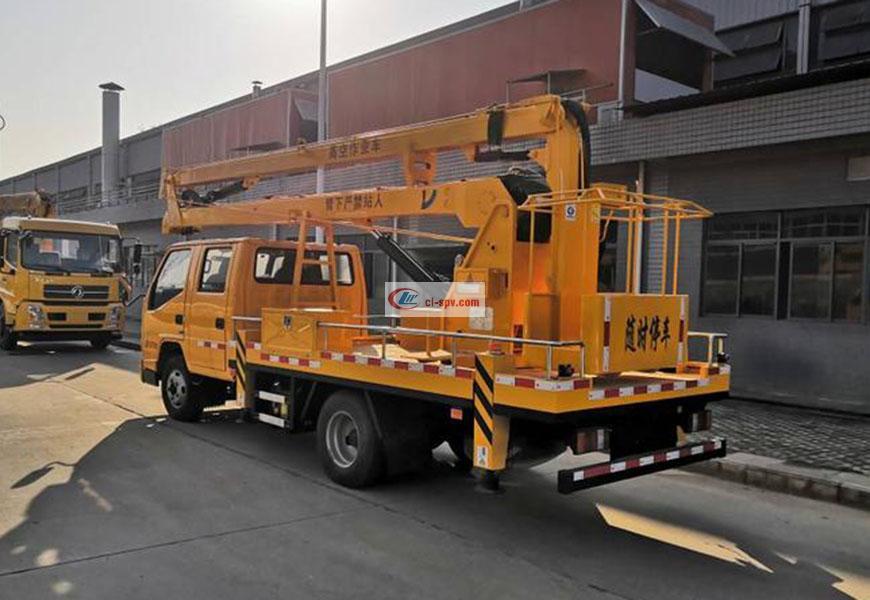 江铃双排座14米16米国六高空作业车图片