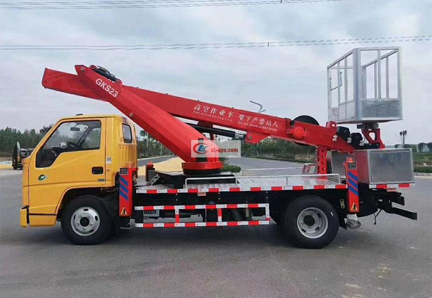 江铃国六23米高空作业车图片
