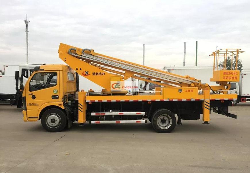 东风凯普特22米伸缩臂高空作业车图片