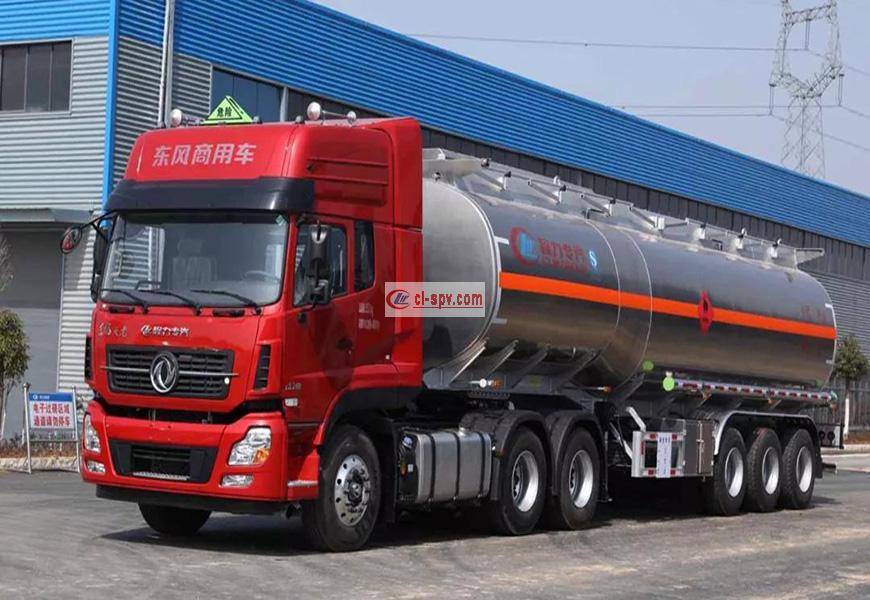 CLW9402GYYLV型铝合金运油半挂车